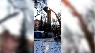 Воронежцы показали момент обрушения трубы старинного хлебозавода