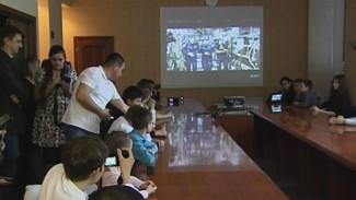 Космонавты прямо с МКС рассказали бутурлиновским школьникам о своей работе