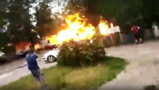 В Воронежской области взорвалась «Газель»: момент записали на видео