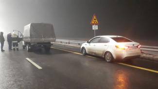 В Воронежской области на скользкой трассе случилось массовое ДТП с пожаром