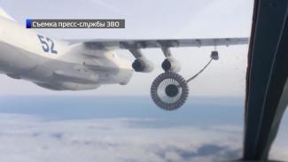 Военные показали видео дозаправки СУ-34 в небе над Воронежской областью