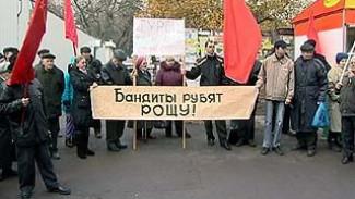 Коммунисты выступают против вырубки леса и незаконной застройки