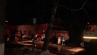 В воронежском санатории сгорело здание танцевального зала