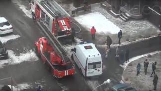 Появилось видео эвакуации детей из горящей многоэтажки в воронежском ЖК