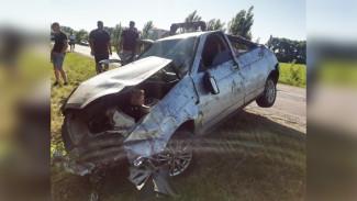 В Воронежской области в перевернувшейся легковушке погиб водитель