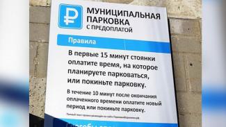 В центре Воронежа начали устанавливать информщиты платных парковок