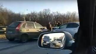 ДТП под Воронежем спровоцировало пробку на трассе