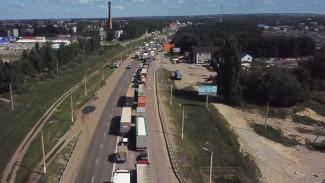 На трассе М-4 «Дон» в Воронежской области образовалась пробка в 15 км