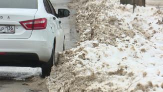 Воронежские автомобилисты вновь пожаловались на нечищенные платные парковки