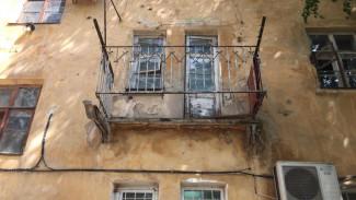 В Воронеже балкон рухнул вместе с женщиной