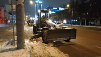 В Воронеже назвали сроки уборки снега с платных парковок