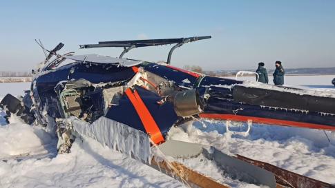 Падение вертолёта под Воронежем