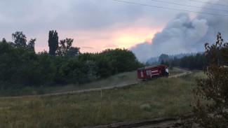 В Воронежской области из-за крупного пожара эвакуировали санаторий