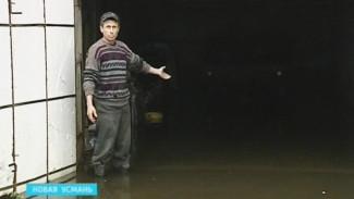 После дождей и паводка подворья жителей Новой Усмани превратились в озёра