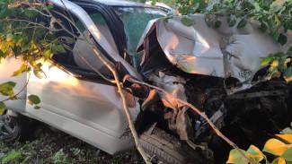 Под Воронежем автомобилистка на скорости вылетела в кювет: момент записали на видео