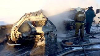 Спасатели нашли тело восьмого погибшего в ДТП с пожаром на воронежской трассе