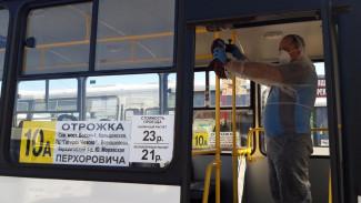 В Воронеже из-за коронавируса пообещали бросить все силы на дезинфекцию маршруток