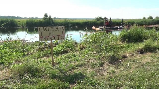 В Воронежской области началась масштабная расчистка реки Икорец
