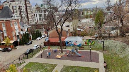 В центре Воронежа на месте снесённого дома появился сквер
