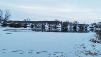 Под Воронежем рыбак провалился под лёд и утонул