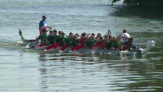 День ВМФ в Воронеже отметили гонками на лодках-драконах