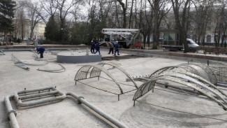 В воронежском Кольцовском сквере разобрали «зимний» фонтан