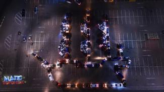Воронежцы ко Дню города выстроили из машин фигуру корабля «Меркурий»