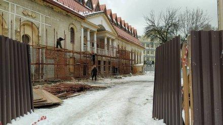 В Воронеже при капремонте уничтожили лепнину на фасаде театра кукол