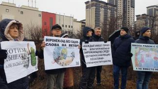 Воронежцы вышли на митинг в защиту яблоневого сада