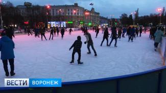 «Лёд хороший». Воронежцы начали осваивать каток на площади Ленина