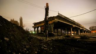 В Воронеже рабочие полностью разобрали один пролёт виадука на 9 Января