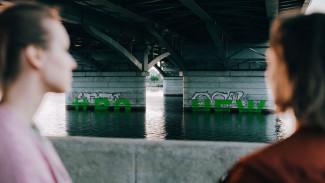 Художник «увековечил» знаменитую воронежскую вонь в граффити под Чернавским мостом
