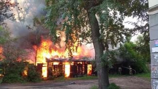Крупный пожар уничтожил 12 сараев возле автовокзала в Воронеже