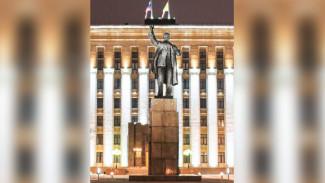 На главной площади Воронежа подсветят памятник Ленину