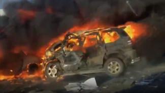 Появилось видео трагедии под Воронежем, где заживо сгорели 7 человек