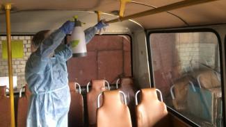 В Воронеже из-за угрозы коронавируса начали дезинфицировать салоны маршруток