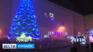 На открытии главной новогодней ёлки воронежцев удивляли лазерным шоу