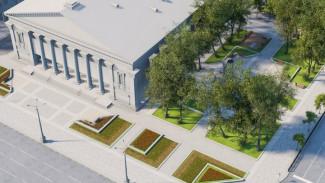 В Воронеже реконструируют сквер у театра оперы и балета