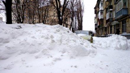 Уборку снега во дворах и на тротуарах Воронежа признали одной из худших в стране