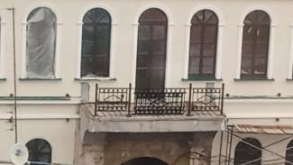 При ремонте Дома Вигеля в Воронеже варварски спилили старинные решётки