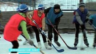 В селе Лозовое состоялся необычный хоккейный матч