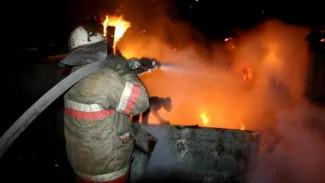 Крупный пожар уничтожил 18 гаражей и сараев в селе под Воронежем