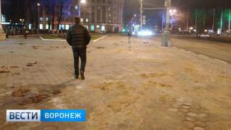 Воронежцы пожаловались на разбитую плитку в центре города