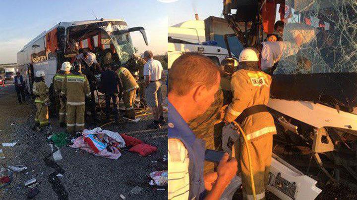 На трассе под Воронежем столкнулись автобус и грузовик: один человек погиб, ещё четверо ранены