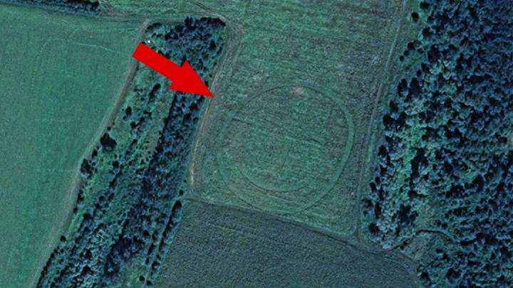 Интернет-пользователи нашли в поле под Воронежем гигантский геоглиф в форме смайла