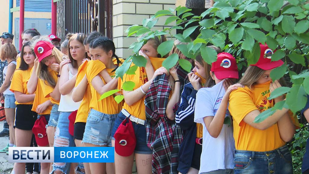 В воронежских летних лагерях отработали эвакуацию детей при пожаре