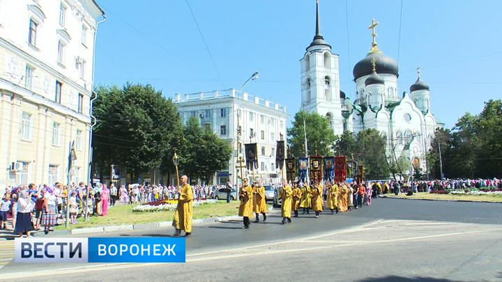 Из Воронежа верующие отправились в крестный ход до Задонска