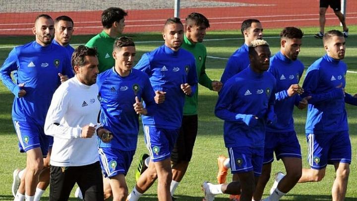 В сети появились фото с первой тренировки марокканской сборной по футболу в Воронеже