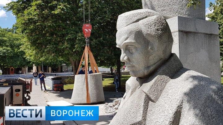 В Воронеже убрали памятник Кольцову с Советской площади