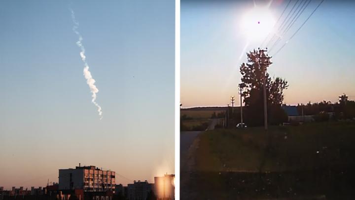 Воронежцы сняли падение метеорита